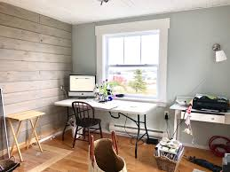 cottage office. Ceiling Tile Planked Over Acoustic In The Cottage Office E