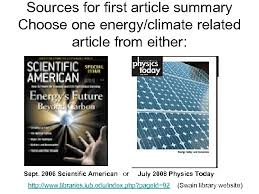 article summary choose one energy climate