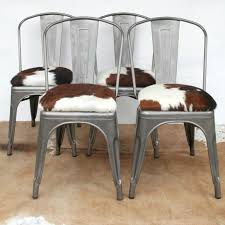london cows limited you choose the hide tolix style chair with regarding cowhide dining decor 19