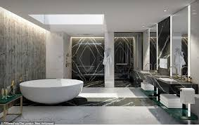 the luxurious bathroom from the designer hotel suite in la