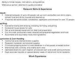 Unique Fast Food Cook Resume Skills With Prep Chef Sample Resume