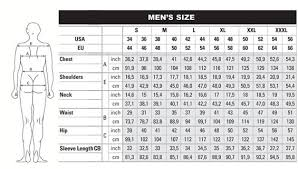 Database Mens Size Chart