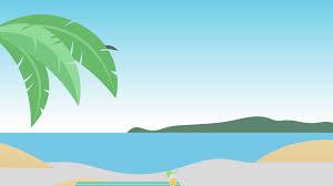 cartoon beach scene 4k resolution looping motion background storyblocks video