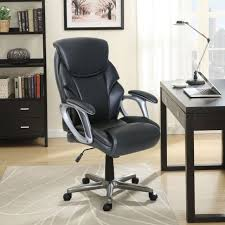 new serta black bonded leather office managers chair black 47951 free