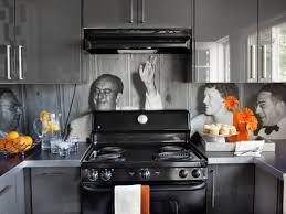 Sleek Contemporary Kitchen With Photo Backsplash
