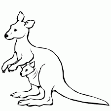 Kangaroo Picture To Color | Free Download Clip Art | Free Clip Art ...