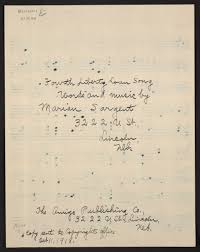 World War I Sheet Music, Image, Sargent, Marian, No Place, Unknown ...