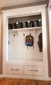 Mudroom Closet Reveal... kinda love this instead of the entry way ...