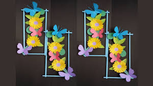 diy wall decoration idea how to make beautiful flower hanging for wall decoration