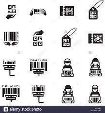 Barcode Design Icon Hand And Barcode Design Set Stock Vector Art