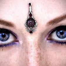 purple glitter bindi silver dichroic gl fantasy jewelry f