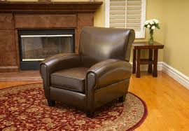 Ridgemark Chocolate Brown Leather Chair  Contemporary  Living Leather Chairs Living Room