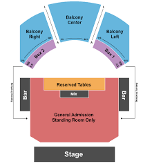 Crescent Ballroom Seating Chart Waterparks Tickets Schedule 2019 2020 Shows Discount