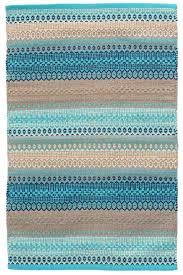 dash and albert gypsy stripe turquoise grey woven cotton rug ships free earn rewards