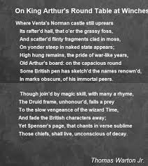 on king arthur s round table at winchester poem by thomas warton jr poem hunter