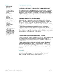 Training Specialist Resume Resume Examples For Online Instructors Resume Builder