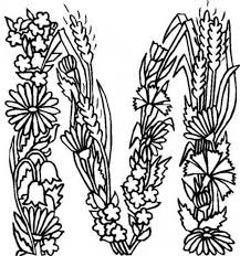 Small Picture Alphabet Flowers Alphabet Flowers Letter M Coloring Pages