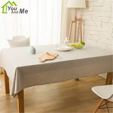 rectangular dining table cover cloth knitted vintage: you and me hot sale cottonampamp linen light gray pure color tablecloth dining table thick