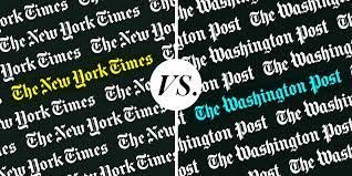 Washington Post vs. the New York Times ...