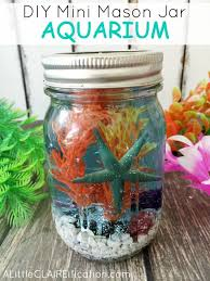 fun and easy art projects to do at home. mini mason jar aquariums fun and easy art projects to do at home