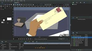 synfig is a vector based 2d animation program which i use for character animations and creating motion graphics animated les etc