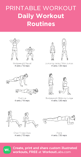 Free Hand Workout Chart Daily Workout Routines My Visual Workout Created At