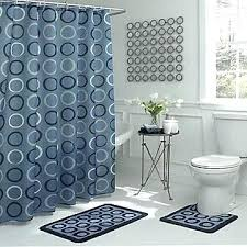 blue bathroom rug sets bath fusion geometric bath set light blue shower curtain and rug set