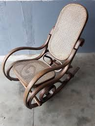 wooden rocking chair thonet style mid 20th century