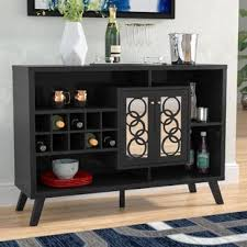 buffet with wine rack.  With Kalliope Buffet Server In With Wine Rack