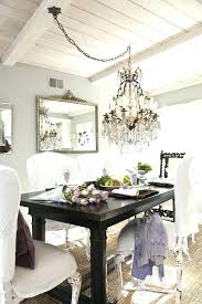 proper height to hang chandelier over dining table designs