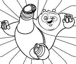 Coloring Panda Pages To Print A Free Bear Pictures Baby Kung Fu