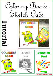 simply shoeboxes diy easy coloring books drawing pads sketch pads for operation child shoeboxes