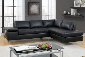 poundex f6519 2 pc madison ii collection black faux leather sectional sofa set with storage armrest