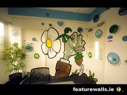 p v s z plants and zombies mural ea games offices ireland murals hand painted in offices on hand painted wall murals artist with mural painting professionals featurewalls ie ea games bespoke