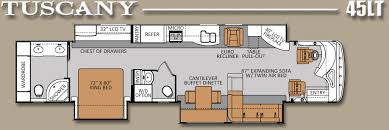 rv floor plans. Luxury RV Floor Plans | Tuscany 45LT: 45\u0027 450HP Tag Axle Diesel Pusher That\u0027s Rv