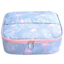 flamingo waterproof women makeup bag cosmetic bag case travel make up toiletry bag organizer storage pouch set box professional makeup storage travel bags