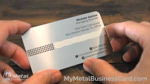 Stainless Steel Business Cards Goodbye Boring Paper Cards Hello Stainless Steel Cards My Metal Business Card