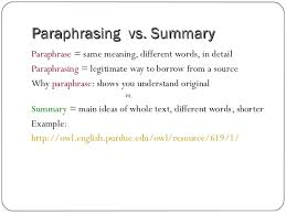 research right writing the paper paraphrasing vs
