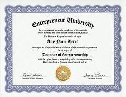 Amazon Com Entrepreneur Degree Custom Gag Diploma Doctorate