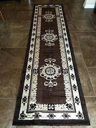 rug runners 3x10 traditional long runner area rug brown design inch x feet rug runners