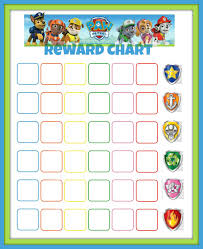 Paw Patrol Reward Chart Toddler Reward Chart Potty