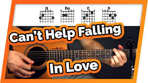 Cant Help Falling In Love With You Guitar Tutorial Elvis Presley Easy Chords Guitar Lesson