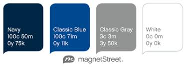 Blue, Gray and White Wedding Colors from MagnetStreet