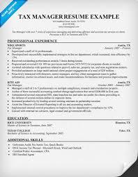 tax resume sample