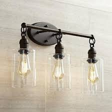 Bathroom lighting fixtures photo 15 Farmhouse Vanity Cloverly 21 34 Lamps Plus 11 15 In High Bathroom Lighting Lamps Plus