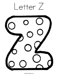 Small Picture Letter Z Coloring Pages Twisty Noodle