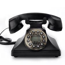 on dial corded phone bnest retro