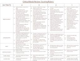 scoring rubric browncritical book review scoring rubric