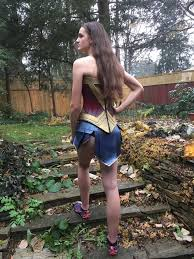 picture of wonder woman cosplay armour and gladiator skirt