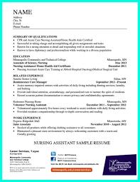 Resume Format For Nursing Assistant Sample Objective Cna Samples ...